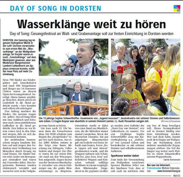 """Day of song 2012"" in Dorsten"