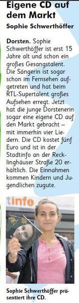 Eigene CD auf dem Markt