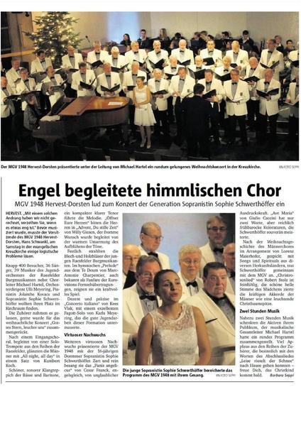Engel begleitete himmlischen Chor